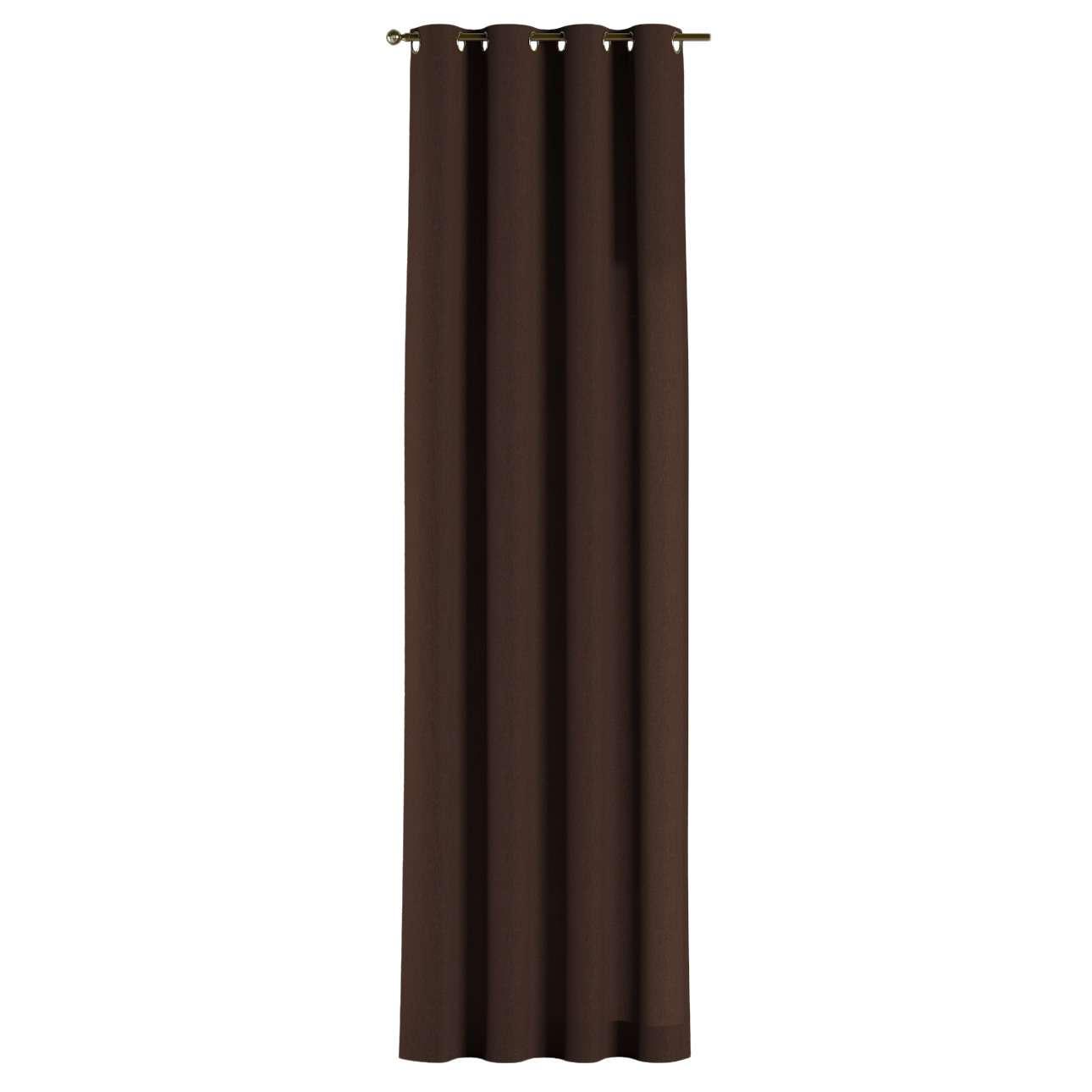 Gardin med öljetter 1 längd 130 x 260 cm i kollektionen Chenille, Tyg: 702-18