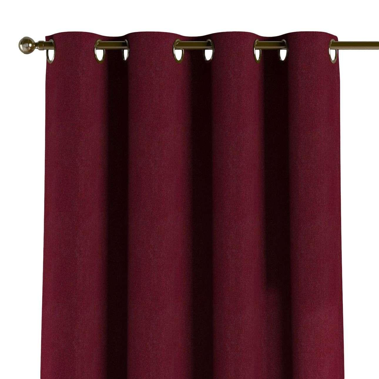 Gardin med öljetter 1 längd i kollektionen Chenille, Tyg: 702-19