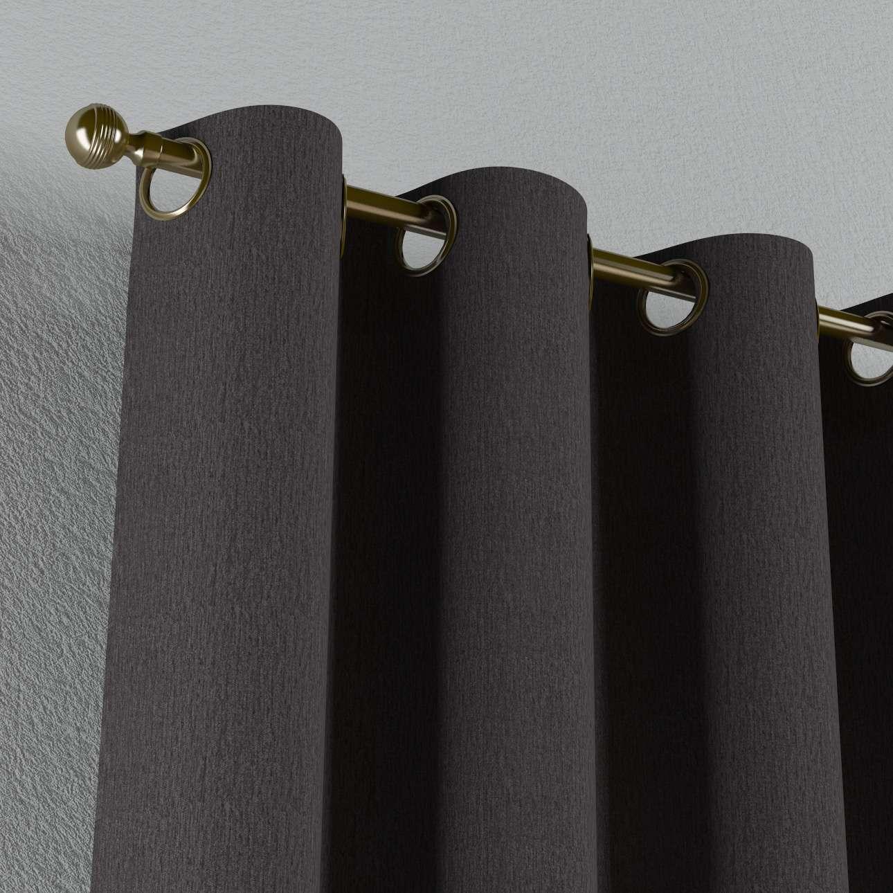 Gardin med øskner 130 x 260 cm fra kollektionen Chenille, Stof: 702-20