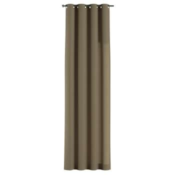 Gardin med öljetter 1 längd 130 x 260 cm i kollektionen Chenille , Tyg: 702-21