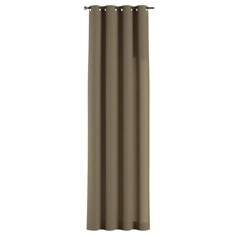Gardin med öljetter 1 längd i kollektionen Chenille, Tyg: 702-21