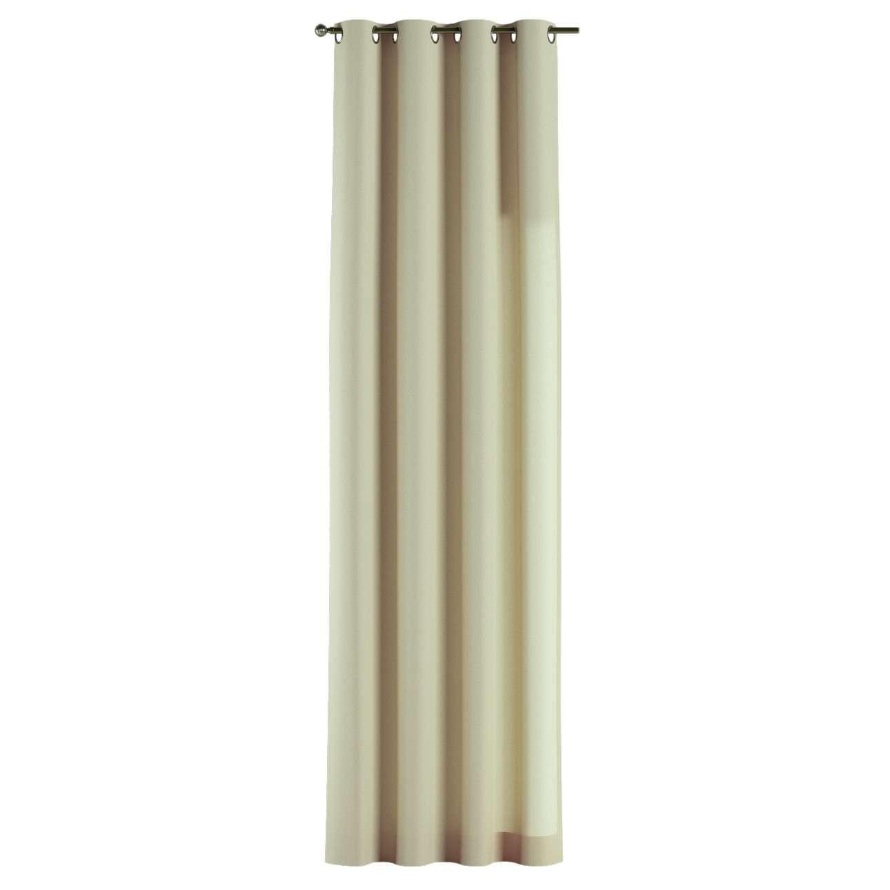 Gardin med öljetter 1 längd 130 x 260 cm i kollektionen Chenille , Tyg: 702-22