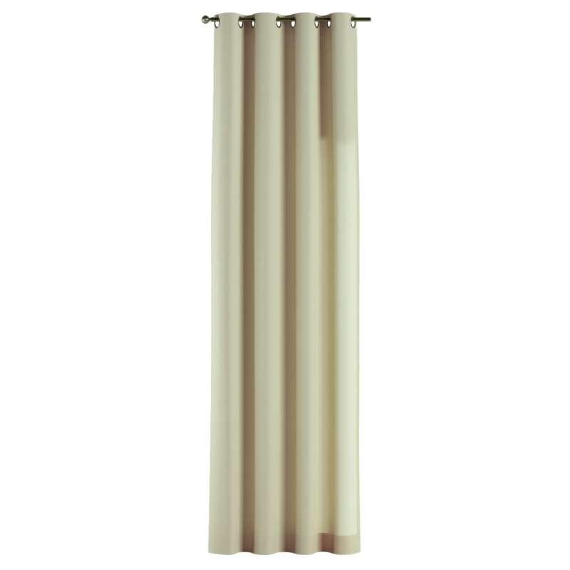 Gardin med öljetter 1 längd i kollektionen Chenille, Tyg: 702-22
