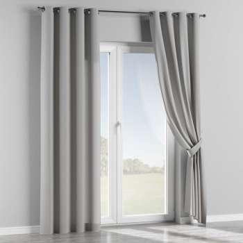 Gardin med öljetter 1 längd 130 x 260 cm i kollektionen Chenille, Tyg: 702-23