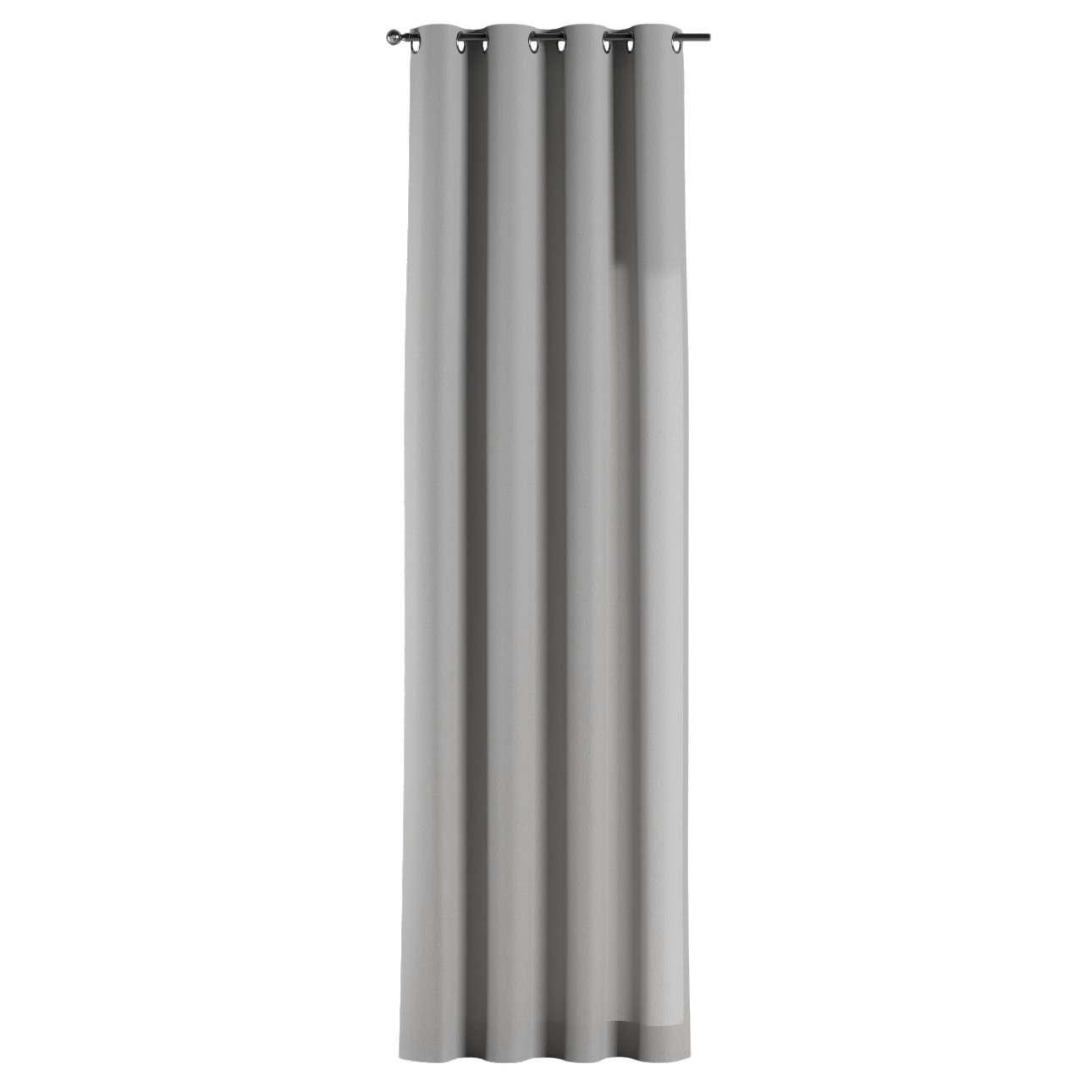 Gardin med öljetter 1 längd 130 x 260 cm i kollektionen Chenille , Tyg: 702-23
