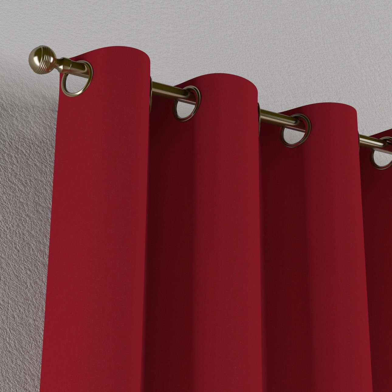 Gardin med öljetter 1 längd 130 x 260 cm i kollektionen Chenille , Tyg: 702-24