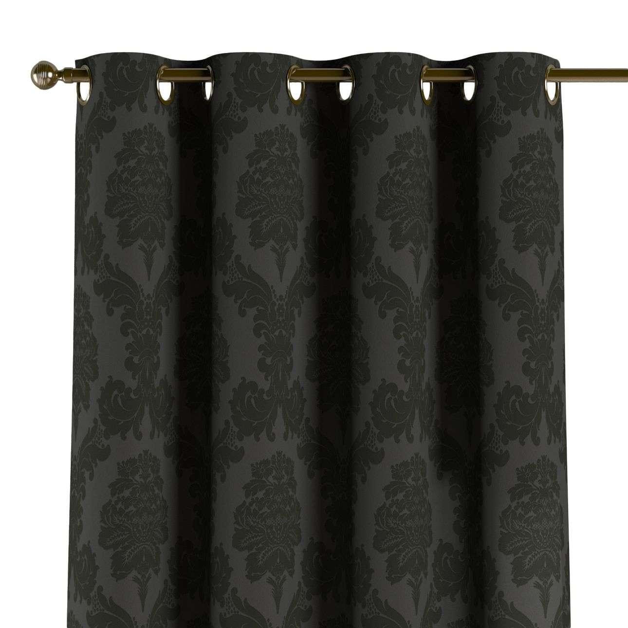 Gardin med öljetter 1 längd 130 x 260 cm i kollektionen Damasco, Tyg: 613-32
