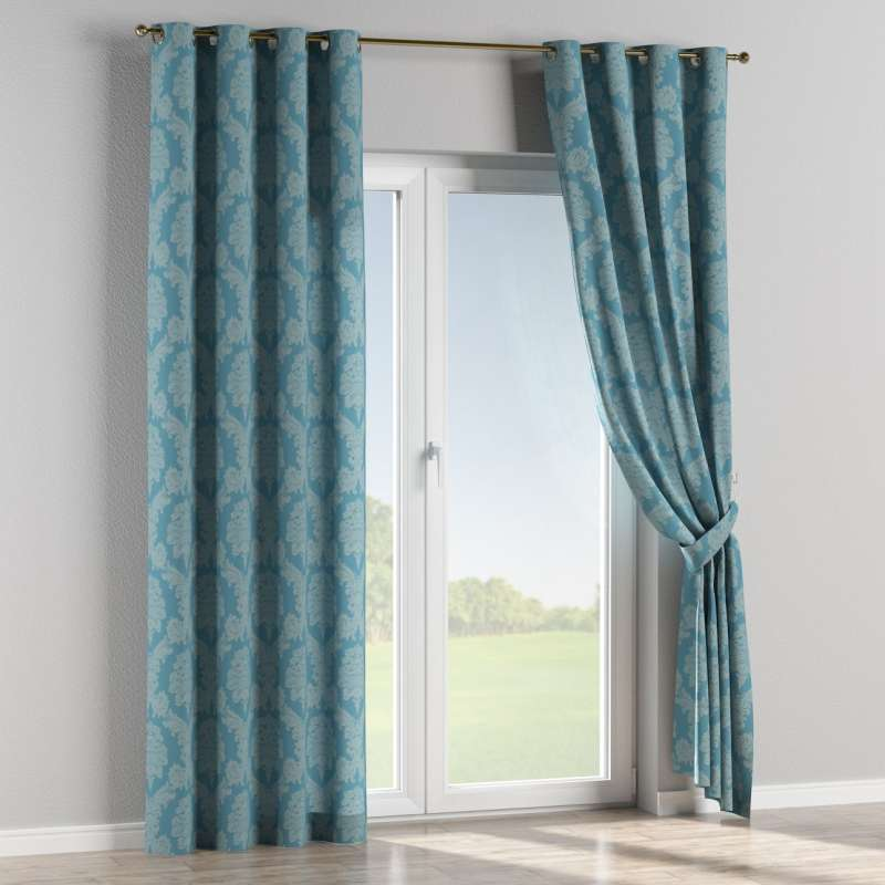Eyelet curtain in collection Damasco, fabric: 613-67
