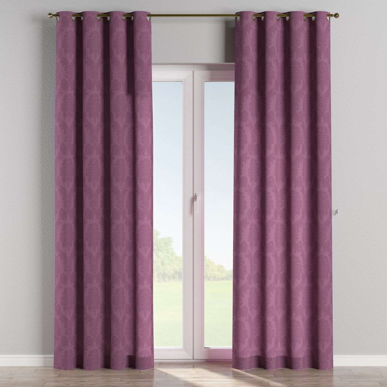 Eyelet curtains in collection Damasco, fabric: 613-75