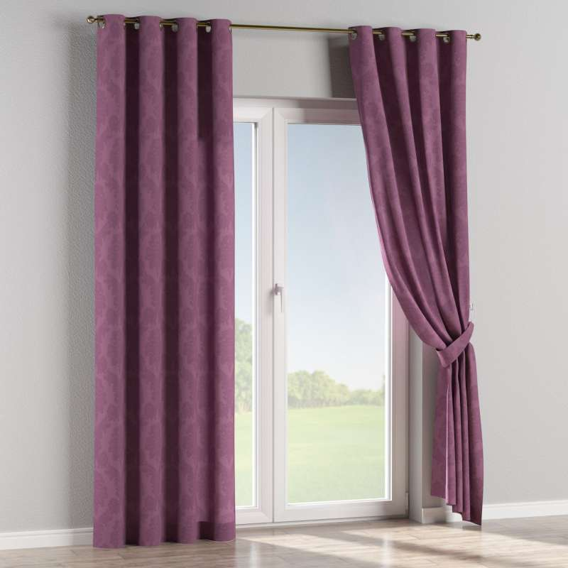 Eyelet curtain in collection Damasco, fabric: 613-75