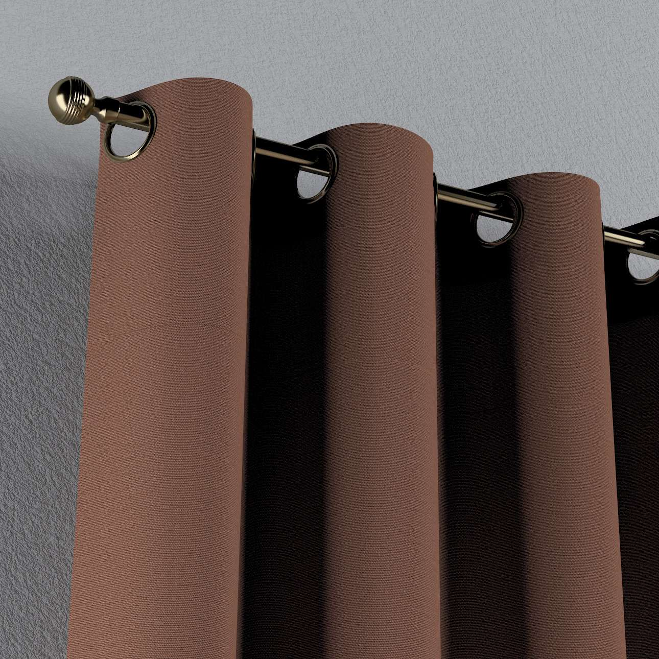 Finished curtain \u00d6sengardine monochromatic voile structure Brown 135 x 260 cm