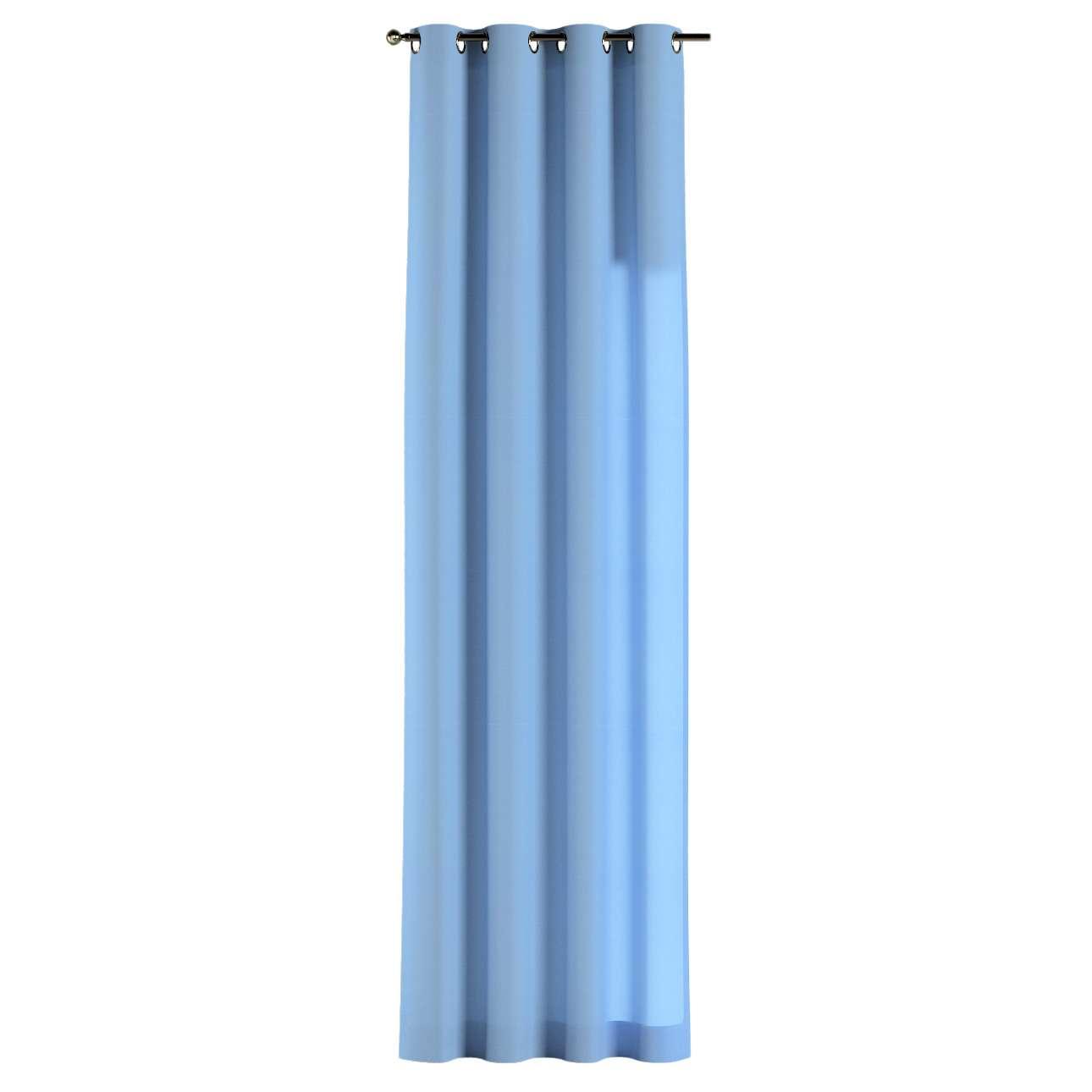 Gardin med öljetter 1 längd 130 x 260 cm i kollektionen Loneta , Tyg: 133-21