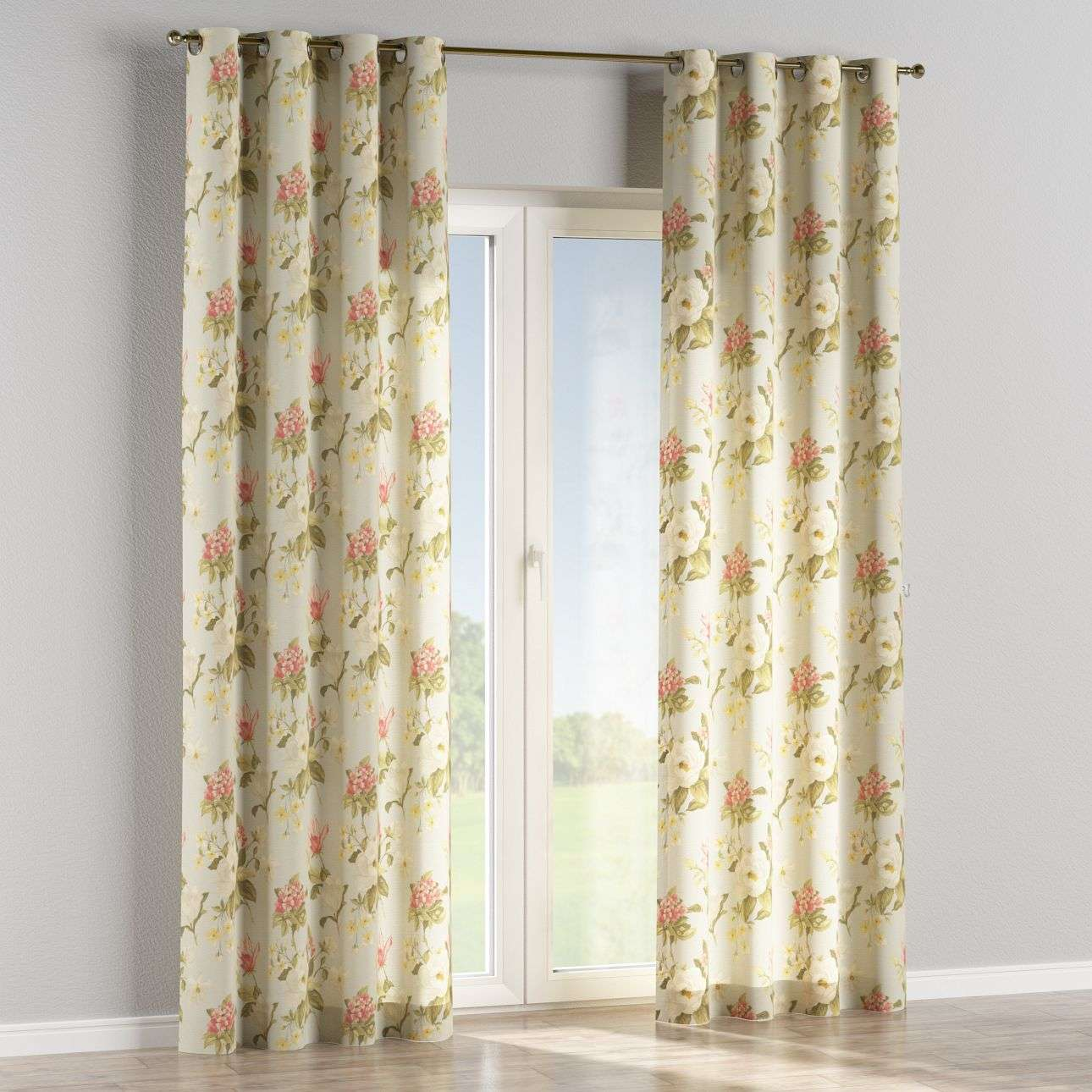 Eyelet curtains 130 x 260 cm (51 x 102 inch) in collection Londres, fabric: 123-65