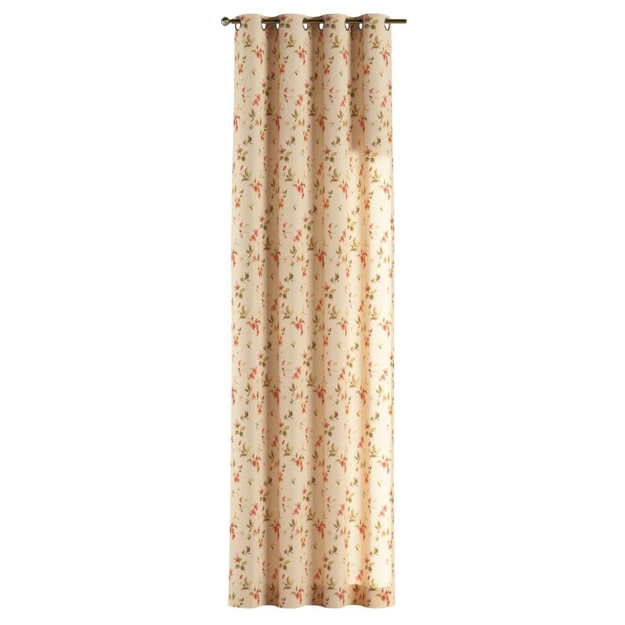 Gardin med öljetter 1 längd 130 x 260 cm i kollektionen Londres, Tyg: 124-05