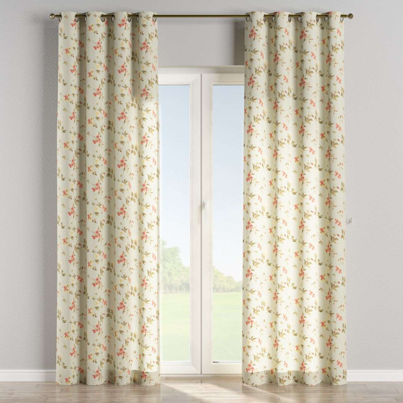 Eyelet curtains 130 x 260 cm (51 x 102 inch) in collection Londres, fabric: 124-65