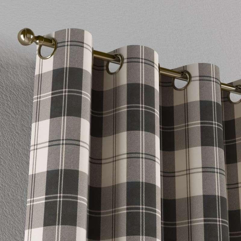 Gardin med öljetter 1 längd i kollektionen Edinburgh, Tyg: 115-74