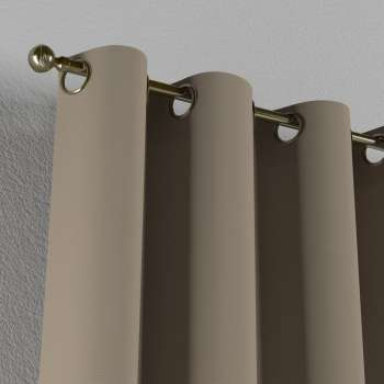 Gardin med öljetter 1 längd 130 x 260 cm i kollektionen Panama Cotton , Tyg: 702-28