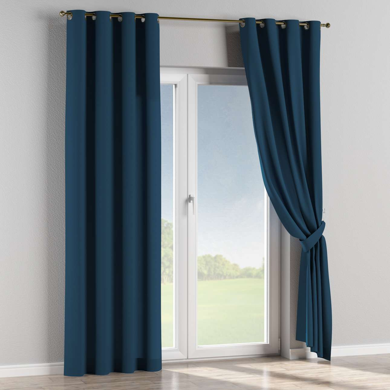 Eyelet curtains 130 x 260 cm (51 x 102 inch) in collection Cotton Panama, fabric: 702-30