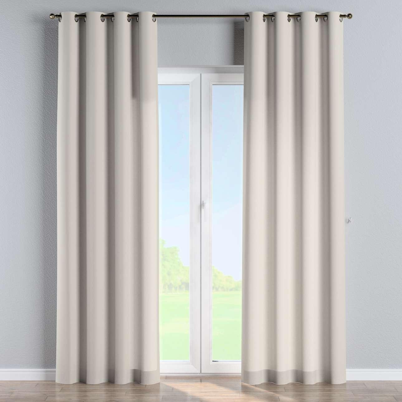 Gardin med öljetter 1 längd 130 x 260 cm i kollektionen Panama Cotton , Tyg: 702-31