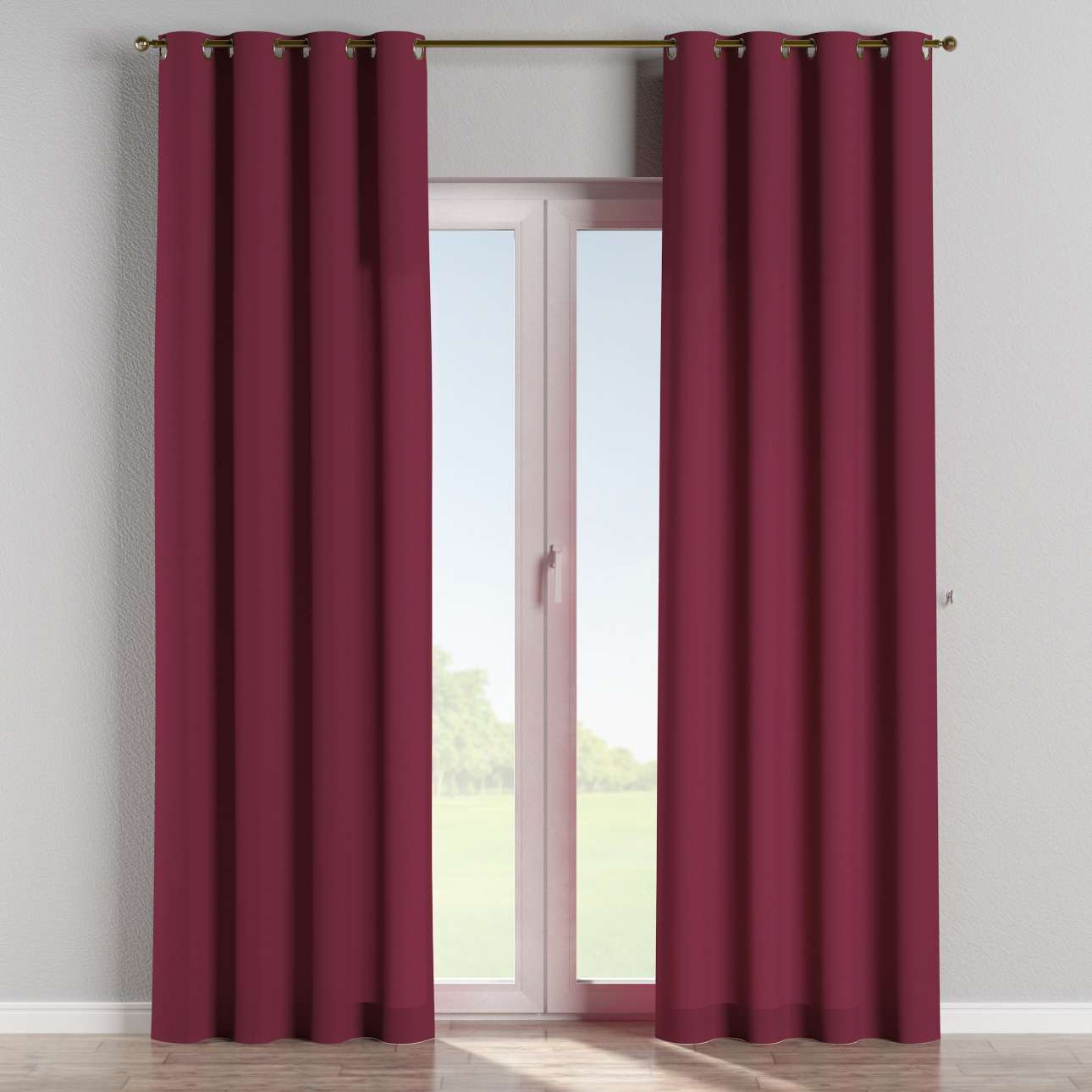 Eyelet curtains 130 x 260 cm (51 x 102 inch) in collection Cotton Panama, fabric: 702-32