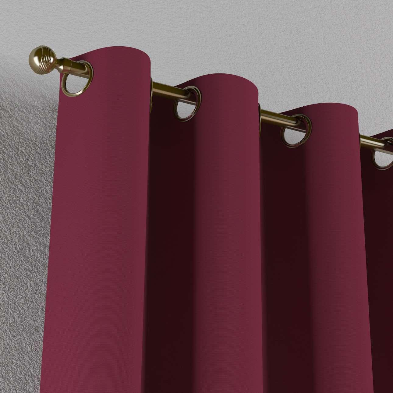 Gardin med öljetter 1 längd 130 x 260 cm i kollektionen Panama Cotton , Tyg: 702-32