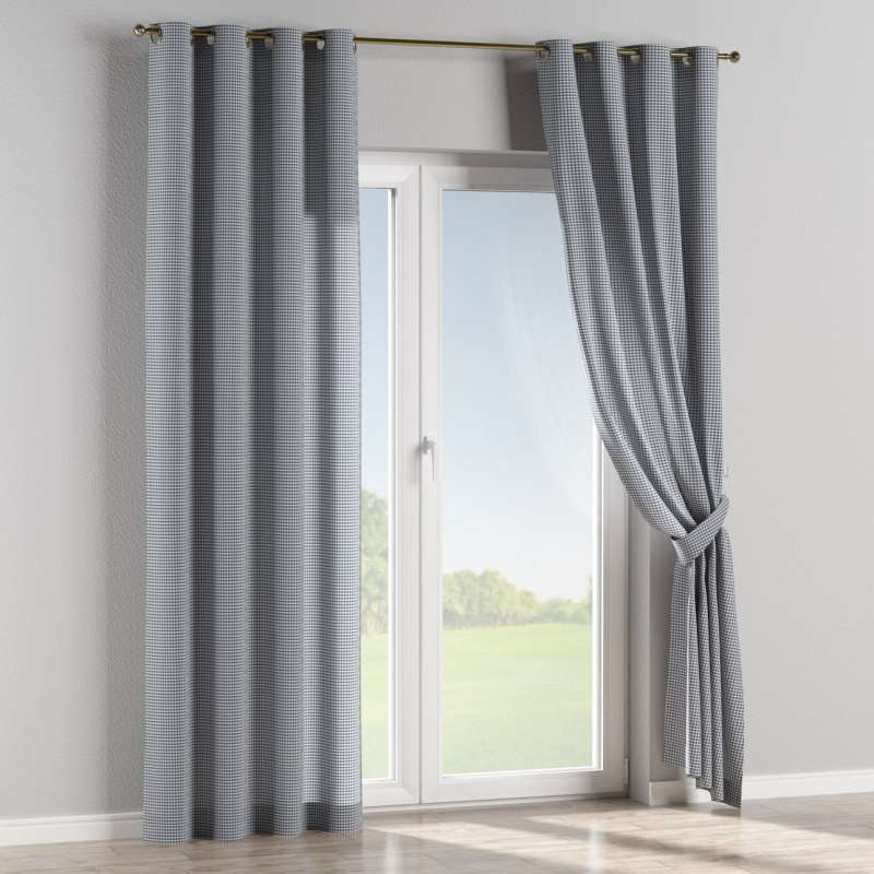 Eyelet curtain in collection Quadro, fabric: 136-00