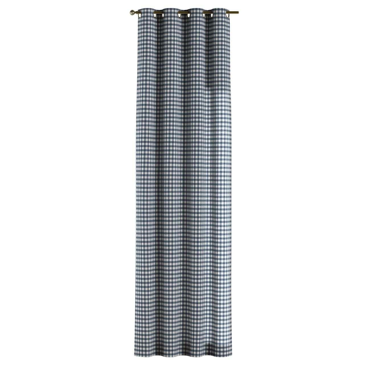 Gardin med maljer 1 stk. 130 x 260 cm fra kolleksjonen Quadro, Stoffets bredde: 136-01