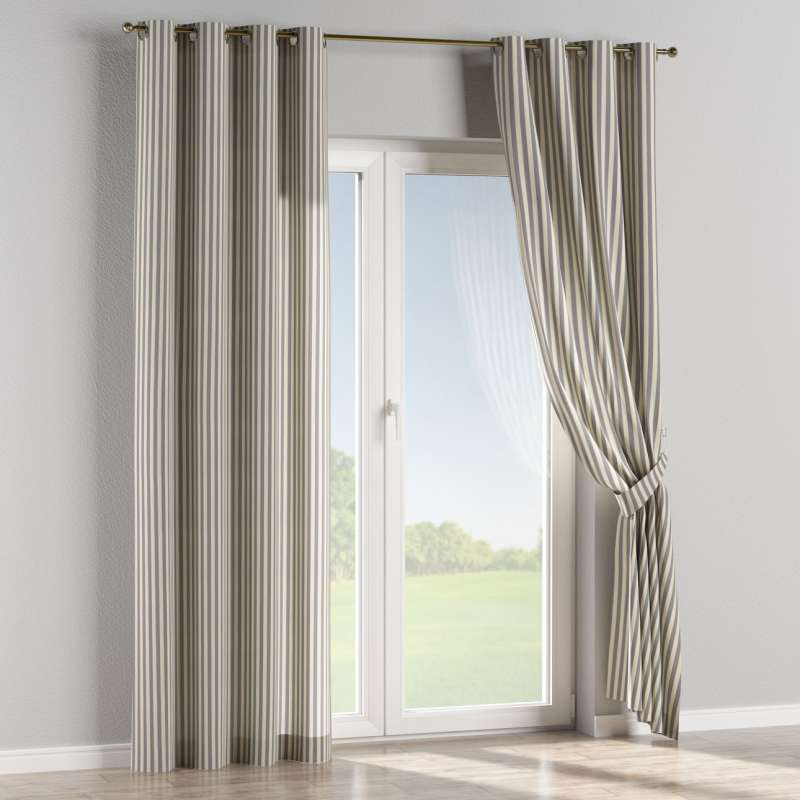 Eyelet curtain in collection Quadro, fabric: 136-02