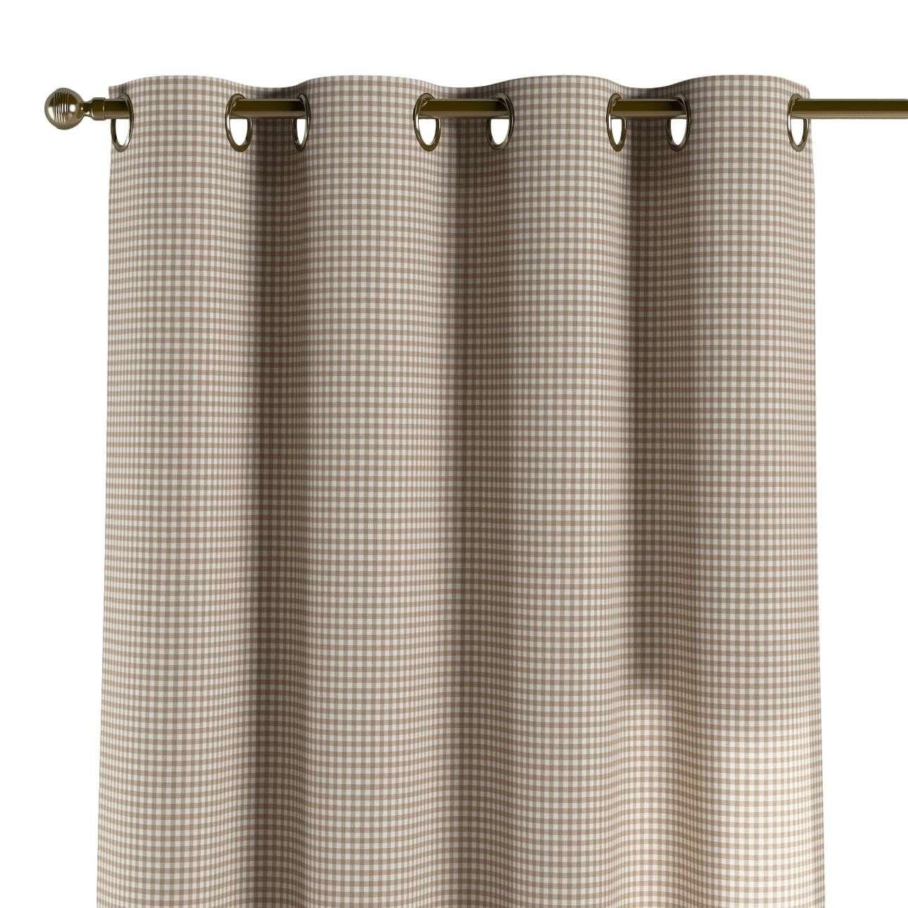 Žiedinio klostavimo užuolaidos 130 x 260 cm (plotis x ilgis) kolekcijoje Quadro, audinys: 136-05