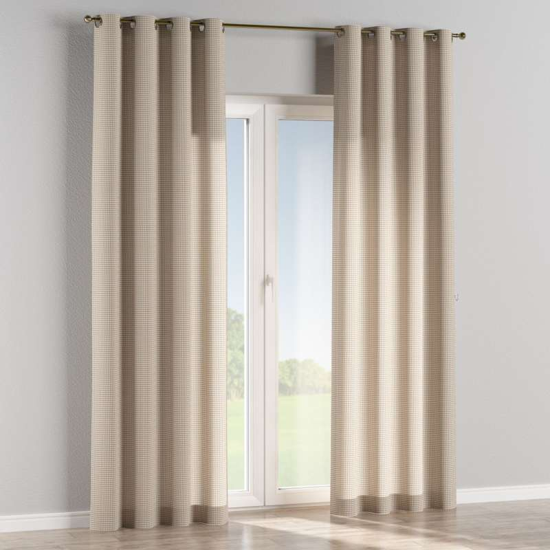 Eyelet curtain in collection Quadro, fabric: 136-05