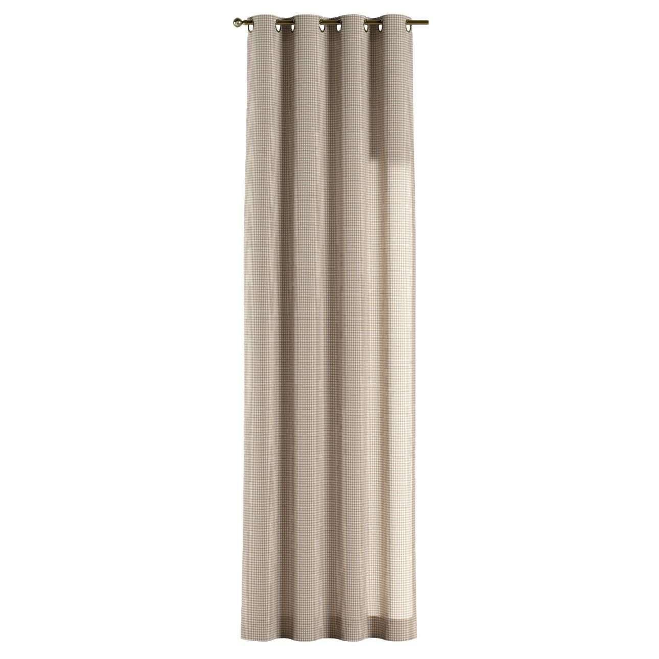 Gardin med maljer 1 stk. 130 × 260 cm fra kolleksjonen Quadro, Stoffets bredde: 136-05