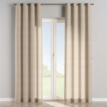 Eyelet curtains 130 × 260 cm (51 × 102 inch) in collection Quadro, fabric: 136-06