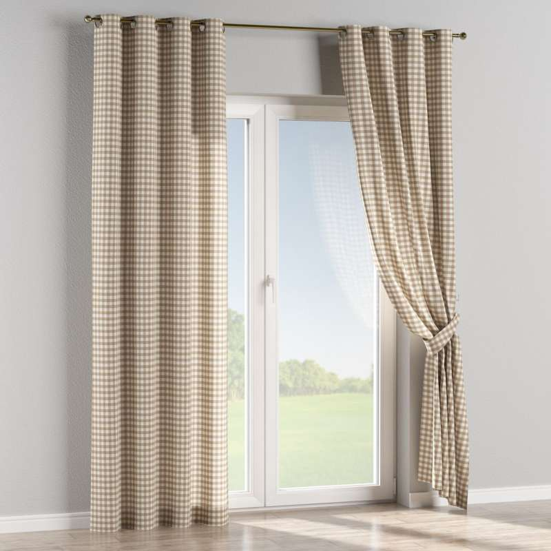 Eyelet curtain in collection Quadro, fabric: 136-06