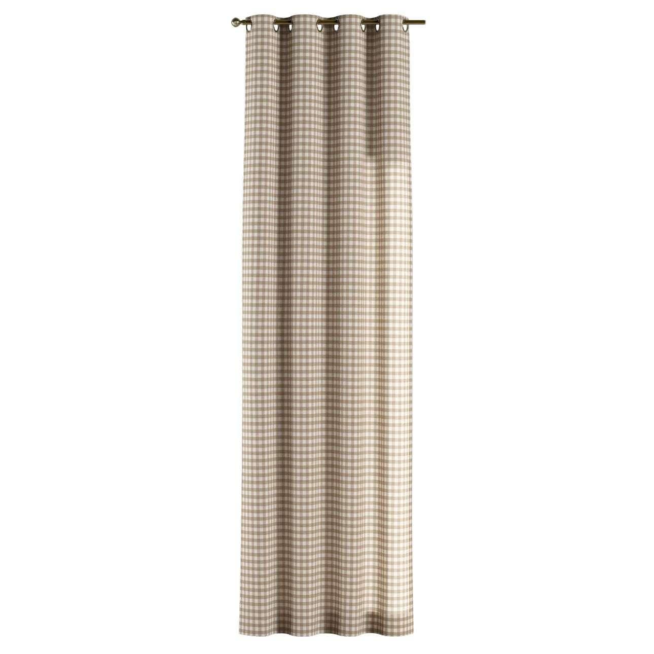 Žiedinio klostavimo užuolaidos 130 x 260 cm (plotis x ilgis) kolekcijoje Quadro, audinys: 136-06
