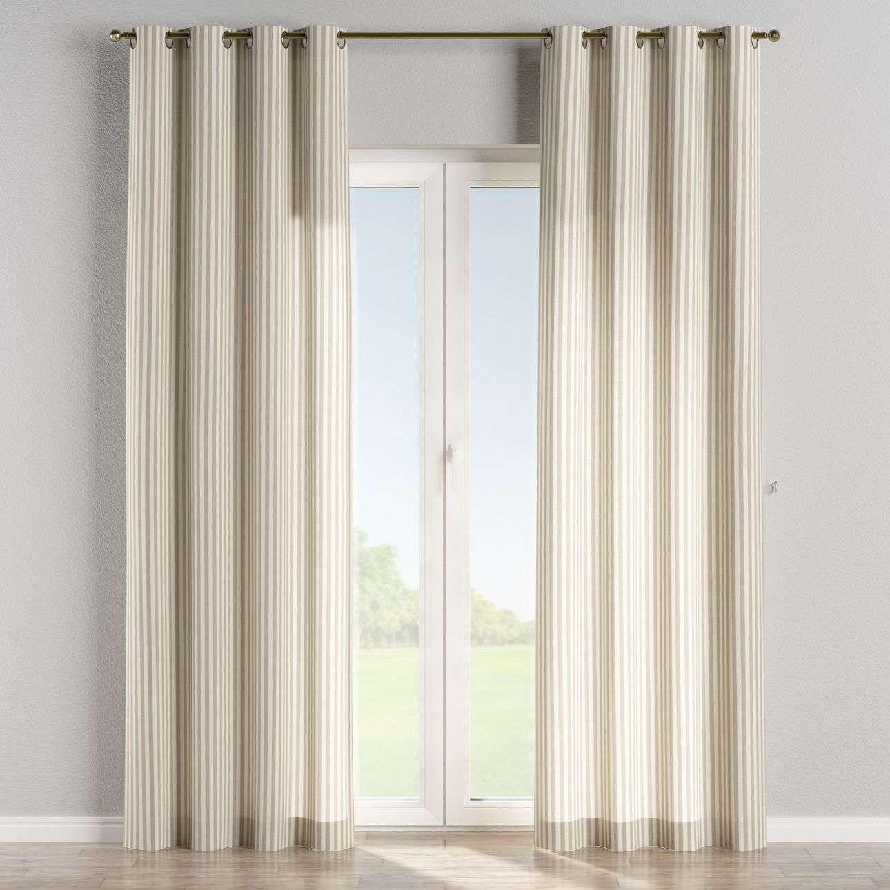 Eyelet curtains in collection Quadro, fabric: 136-07