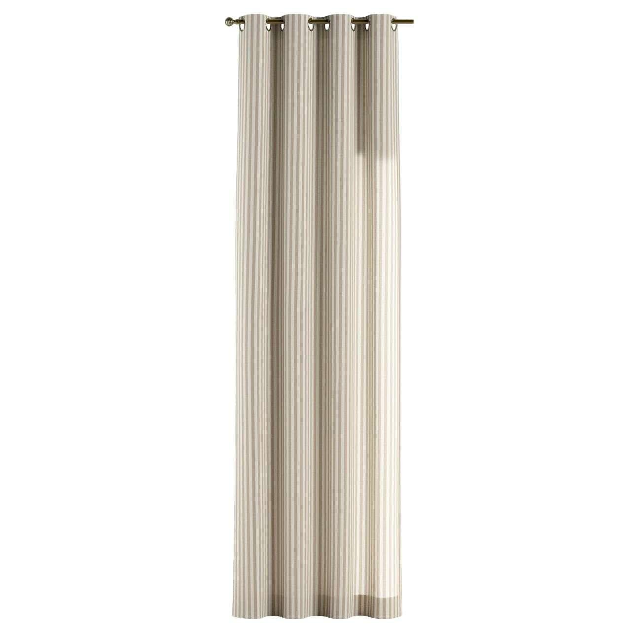 Žiedinio klostavimo užuolaidos 130 x 260 cm (plotis x ilgis) kolekcijoje Quadro, audinys: 136-07