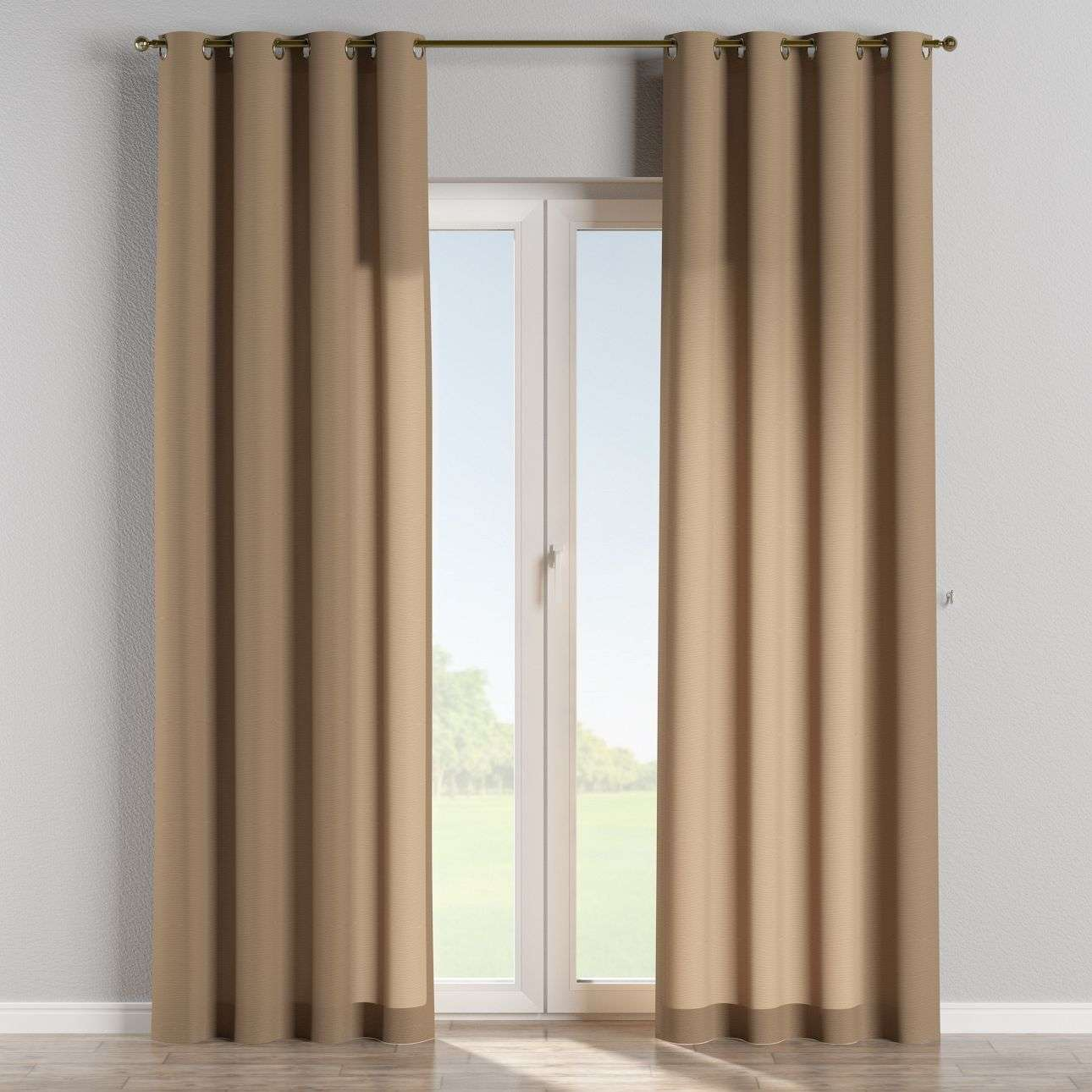 Eyelet curtains 130 × 260 cm (51 × 102 inch) in collection Quadro, fabric: 136-09