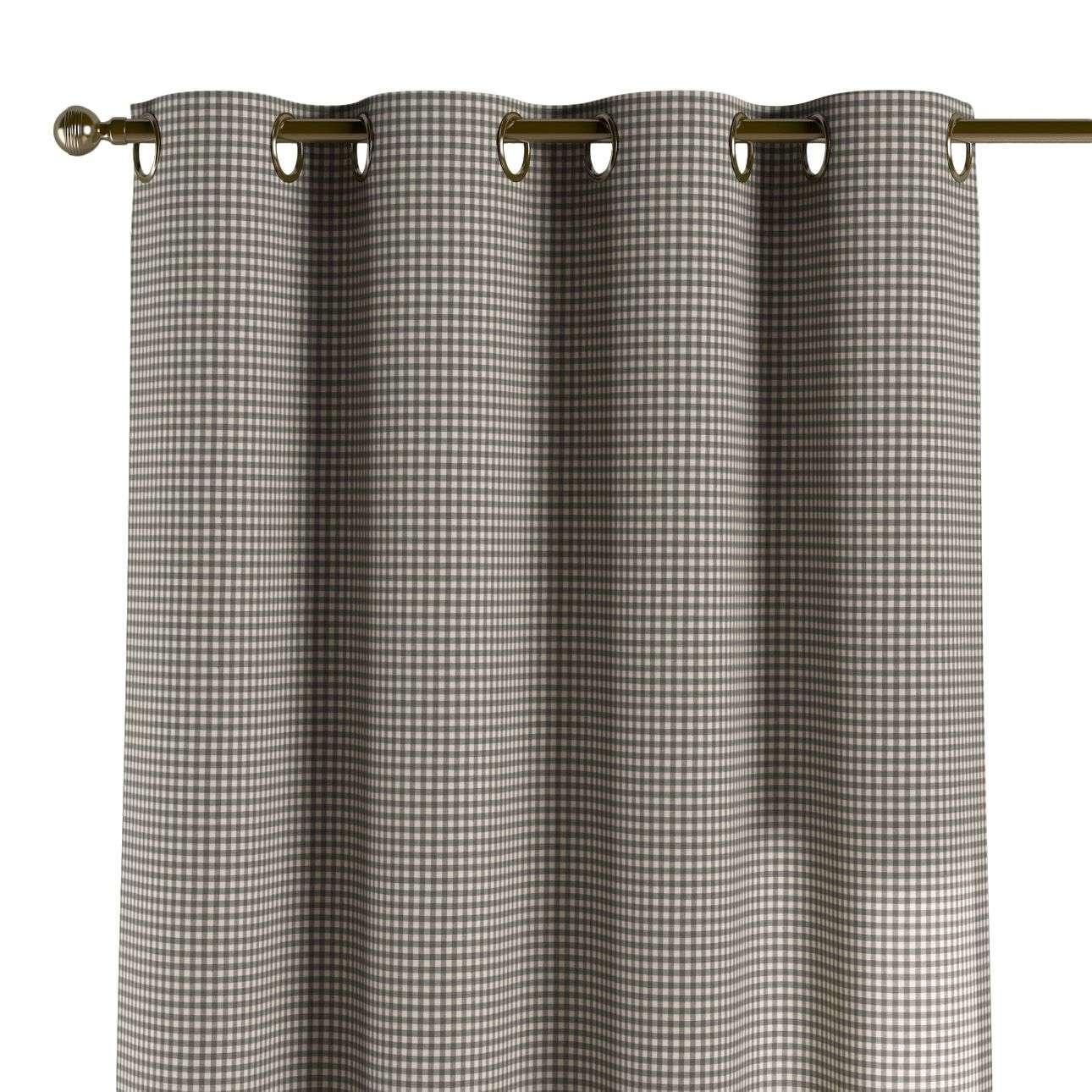 Gardin med maljer 1 stk. 130 x 260 cm fra kolleksjonen Quadro, Stoffets bredde: 136-10