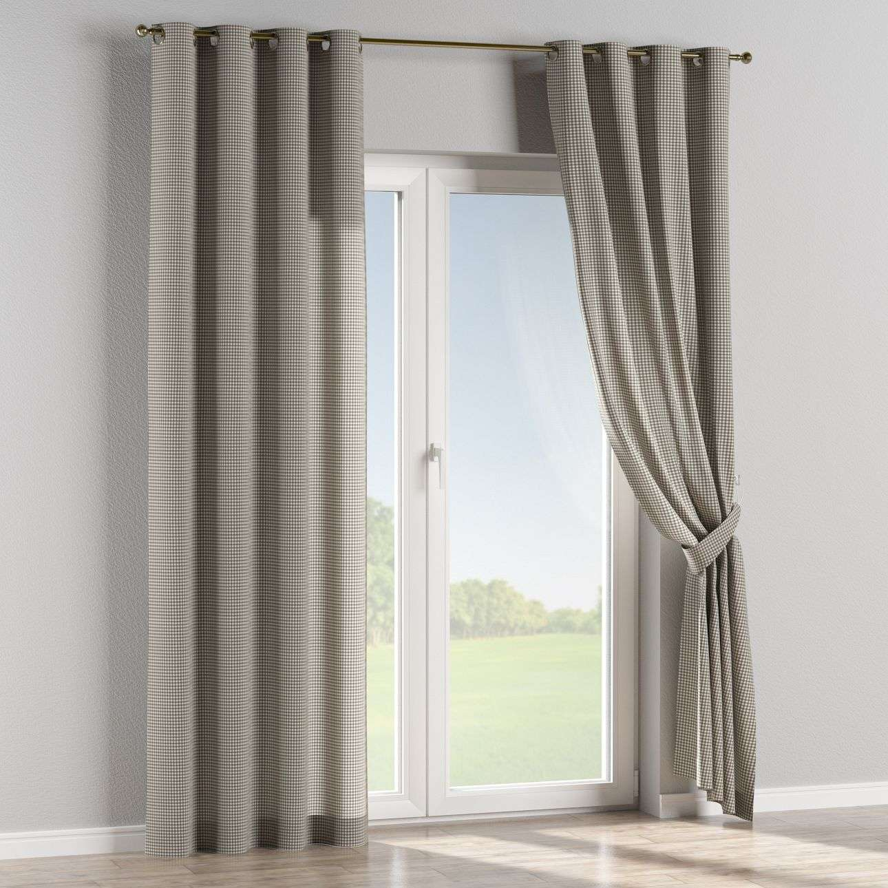 Eyelet curtains in collection Quadro, fabric: 136-10