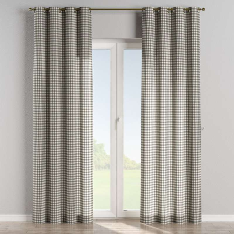 Eyelet curtain in collection Quadro, fabric: 136-11