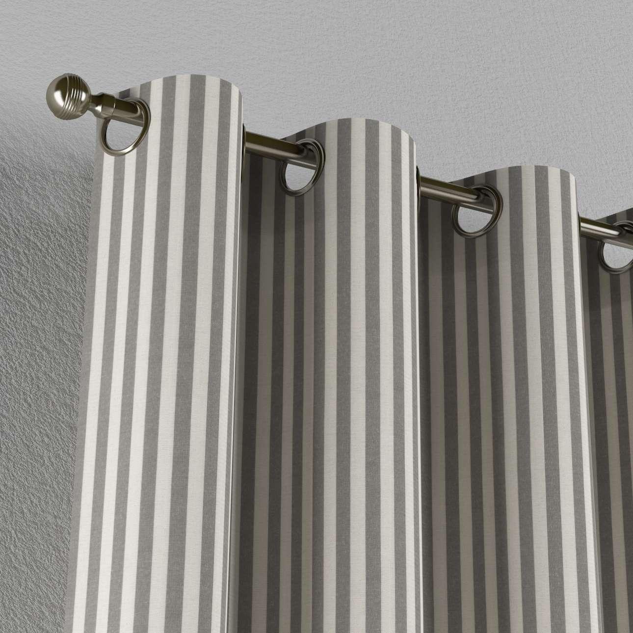 Žiedinio klostavimo užuolaidos 130 x 260 cm (plotis x ilgis) kolekcijoje Quadro, audinys: 136-12