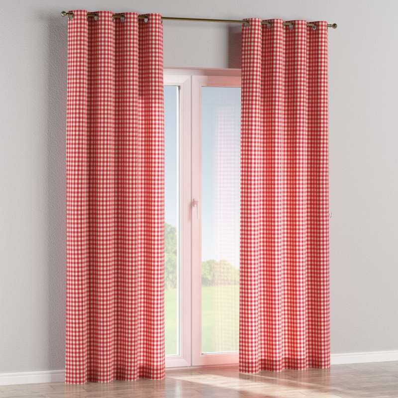 Eyelet curtain in collection Quadro, fabric: 136-16