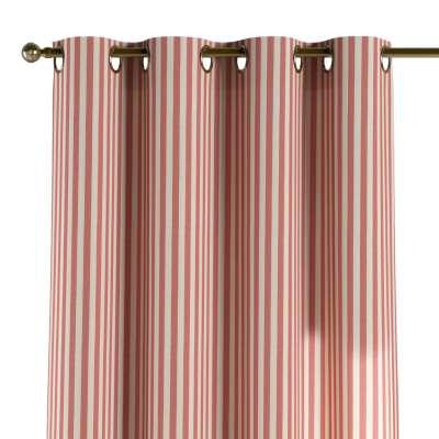 Záves s kolieskami 136-17 červeno-biele prúžky Kolekcia Quadro
