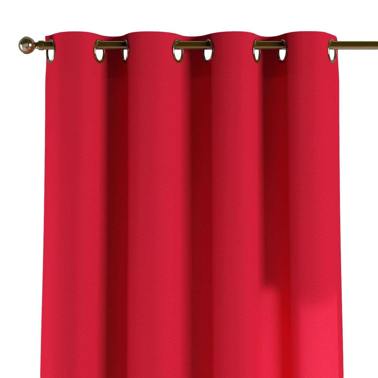 Žiedinio klostavimo užuolaidos 130 x 260 cm (plotis x ilgis) kolekcijoje Quadro, audinys: 136-19