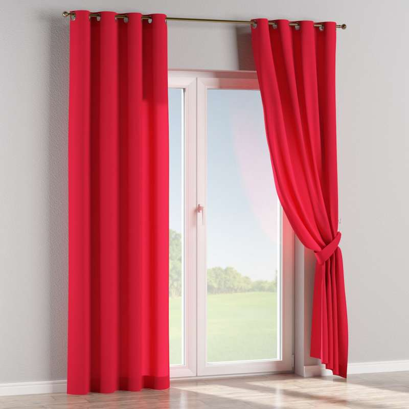 Eyelet curtain in collection Quadro, fabric: 136-19