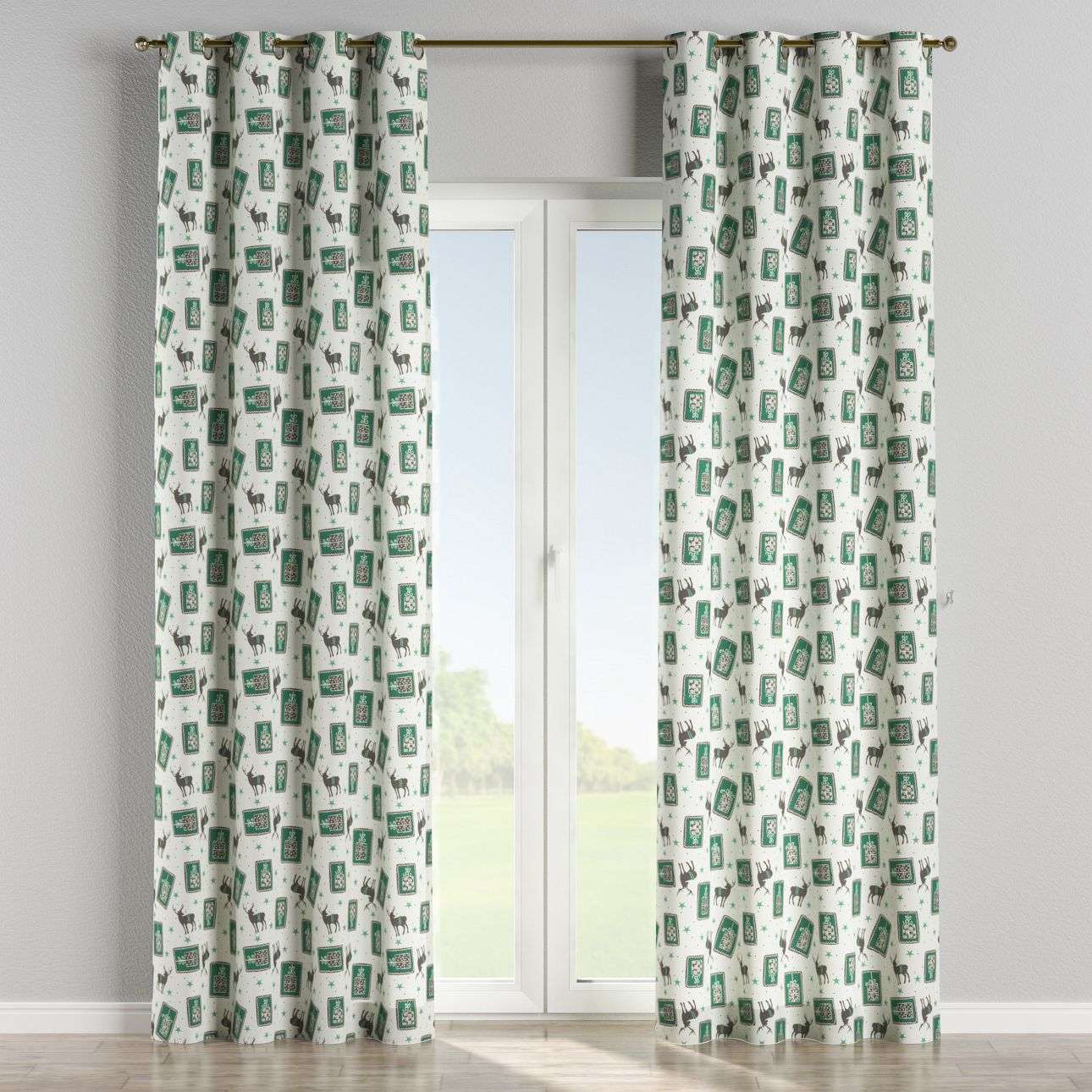 Eyelet curtains 130 x 260 cm (51 x 102 inch) in collection Nordic, fabric: 630-13