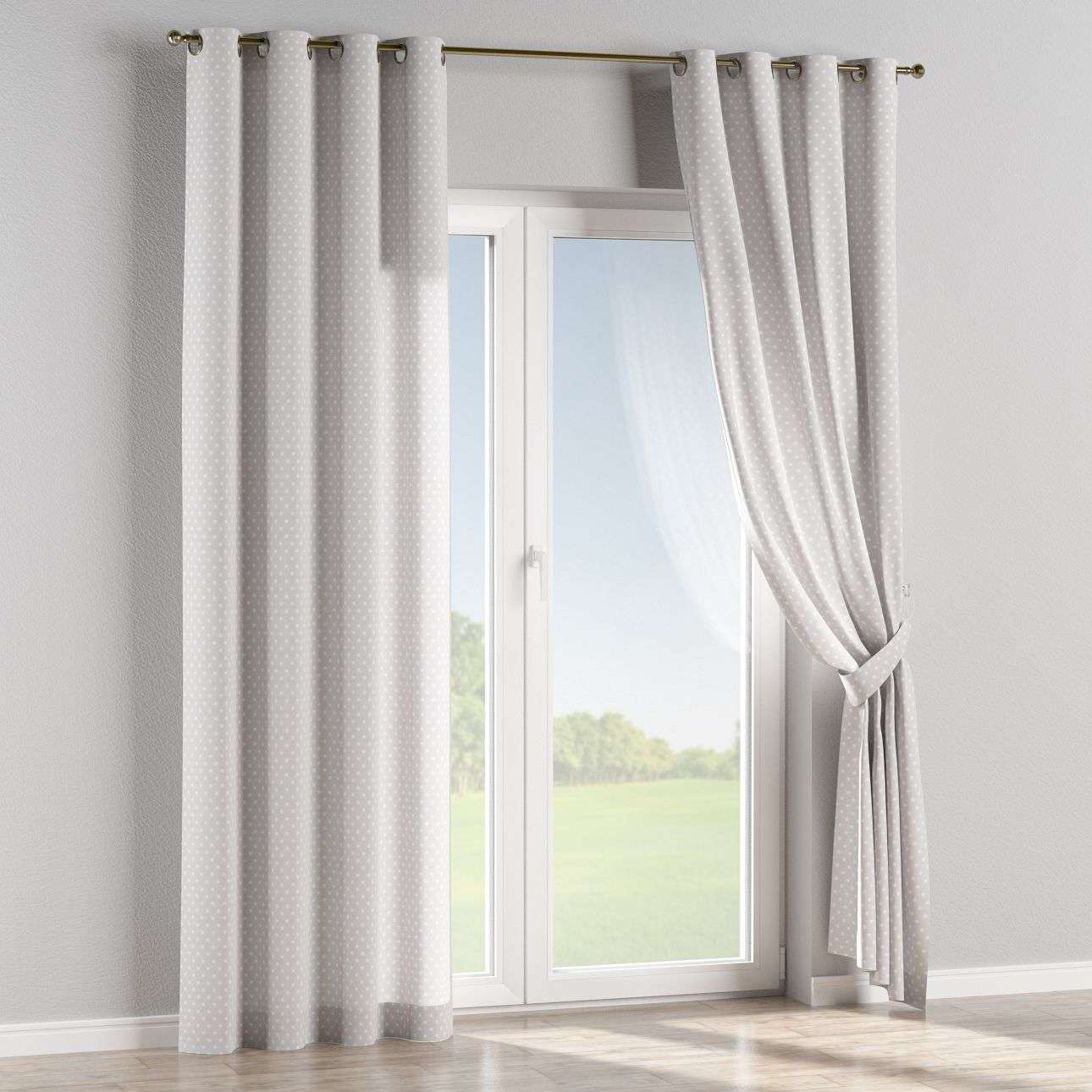Eyelet curtains 130 x 260 cm (51 x 102 inch) in collection Ashley, fabric: 137-67