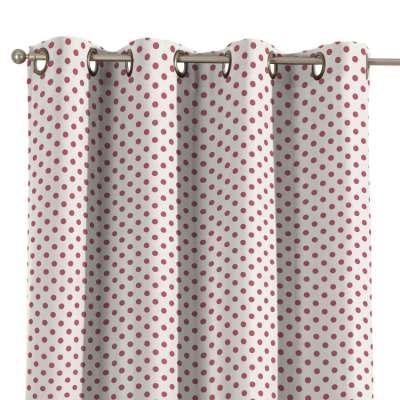 Ringlis függöny 137-70 pink-fehér Méteráru Little World Lakástextil