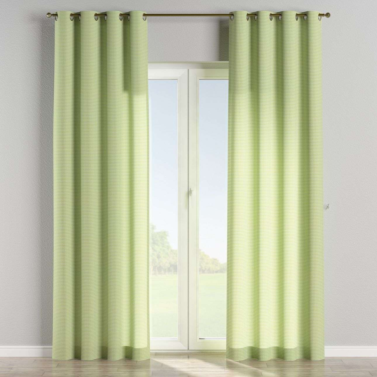 Eyelet curtains 130 x 260 cm (51 x 102 inch) in collection Quadro, fabric: 136-33