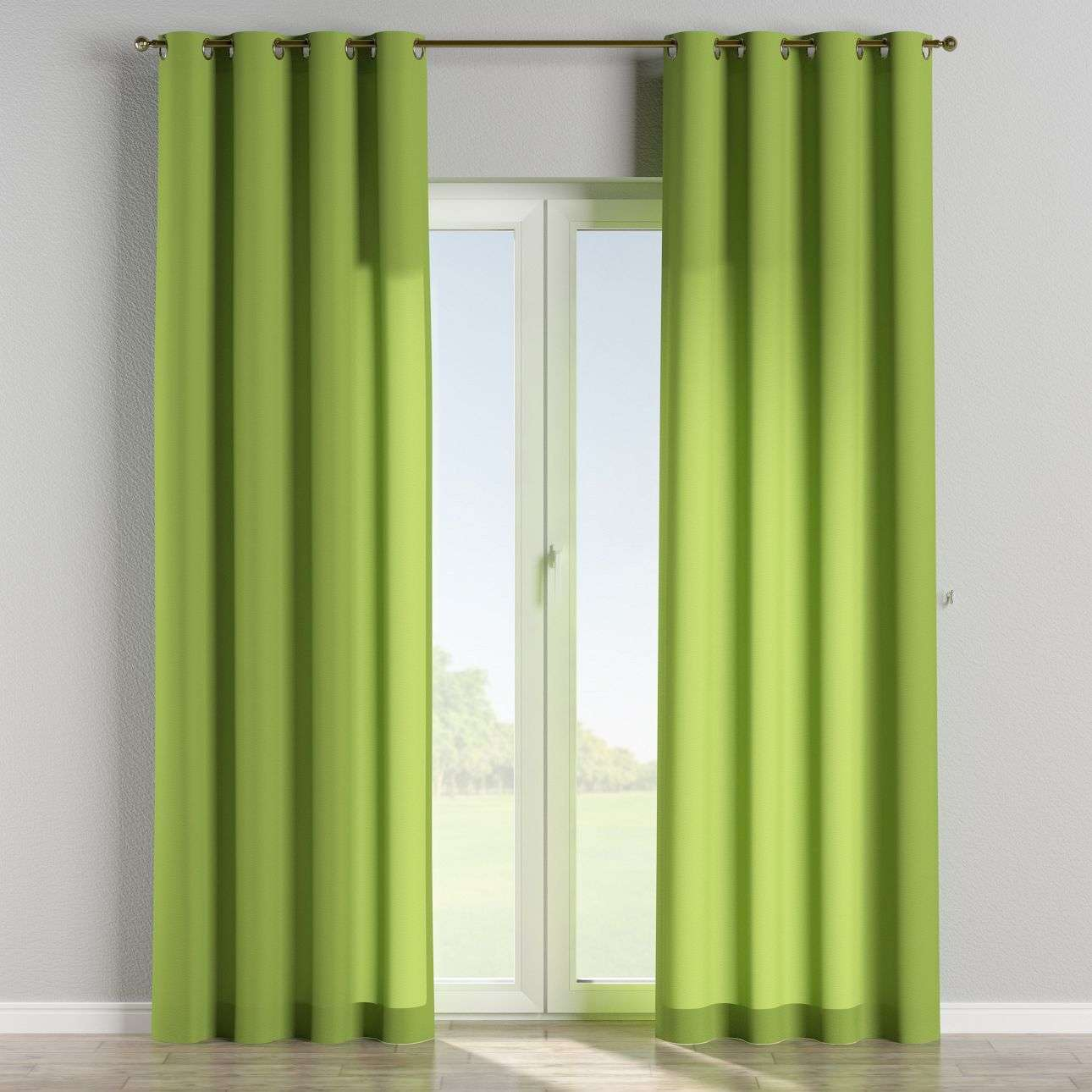 Eyelet curtains 130 × 260 cm (51 × 102 inch) in collection Quadro, fabric: 136-37